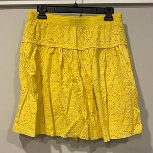 Old Navy Yellow Skirt with Floral Detail